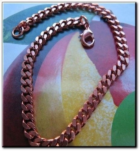 Ladies Solid Copper 6 1/2 Inch Bracelet CB860G - 3/16 of an inch wide