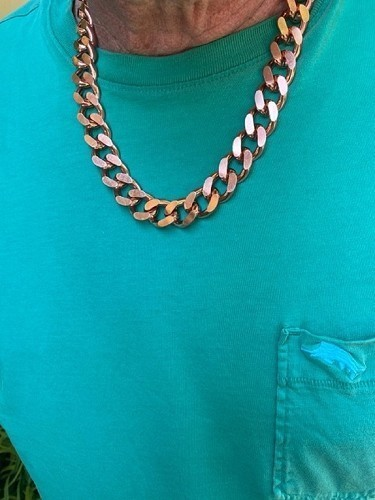 36 Inch Length Solid Copper Chain CN639G - 5/8 of an inch wide - Our widest design.