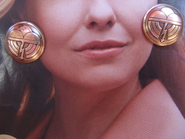 Copper Earrings CE6278CO -  3/4 of an inch round.