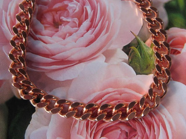 24 inch Length Solid Copper Chain CN644G - 5/16 of an inch wide