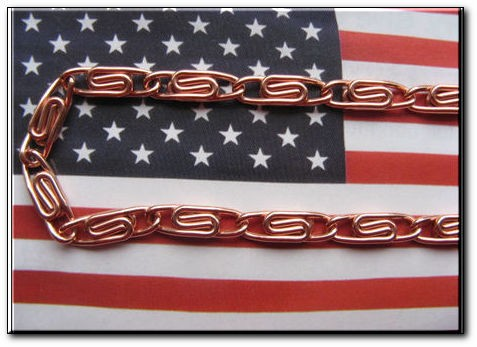 Solid Copper 8 1/2 Inch Bracelet CB5475D - 3/16 of an inch wide