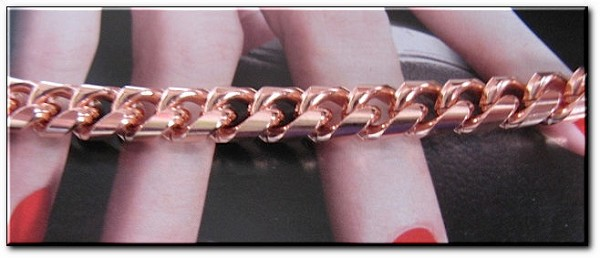 Ladies 7 1/2 Inch Solid Copper Bracelet CB624G  - 5/16 of an inch wide