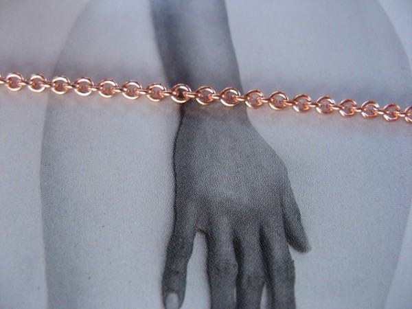 Solid Copper 7 1/2 Inch Bracelet CB726G - 3/16 of an inch wide