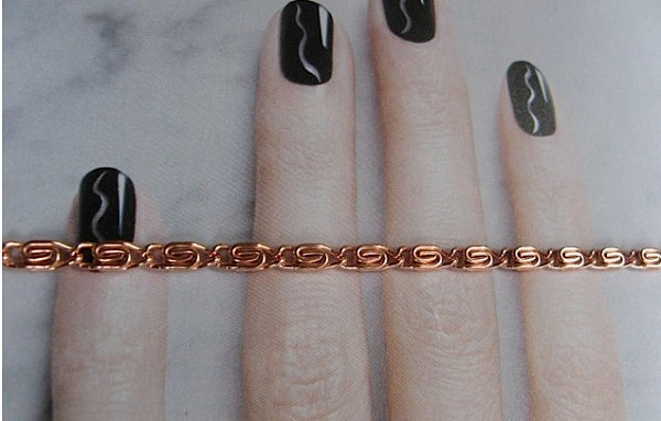 Solid Copper 7 1/2 Inch Bracelet CB620G - 1/8 of an inch wide