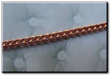 24 inch Length Solid Copper Chain CN611G - 1/8 of an inch wide