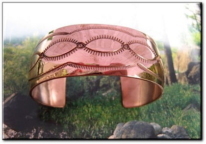 Women's 7 Inch Solid Copper Cuff Bracelet C114NA - 1 inch wide.