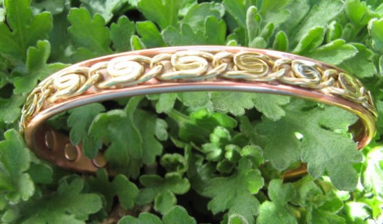Men's 8 Inch Solid Copper Magnetic Cuff Bracelet CBM836- 5/16 of an inch wide.