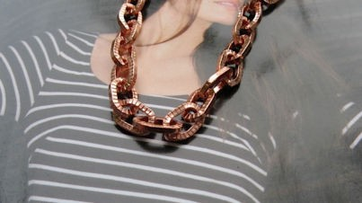 24 inch Length Solid Copper Chain CN680G - 1/4 of an inch wide