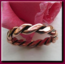 Copper Ring CR021- Size 4 - 1/8 of an inch wide.