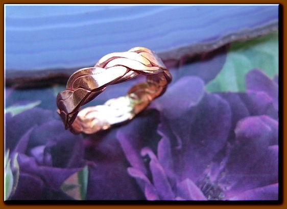 Copper Ring CR211AR - Size 9 -  3/16 of an inch wide.