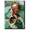 Solid copper lobster claw clasp - pull lever to open and close